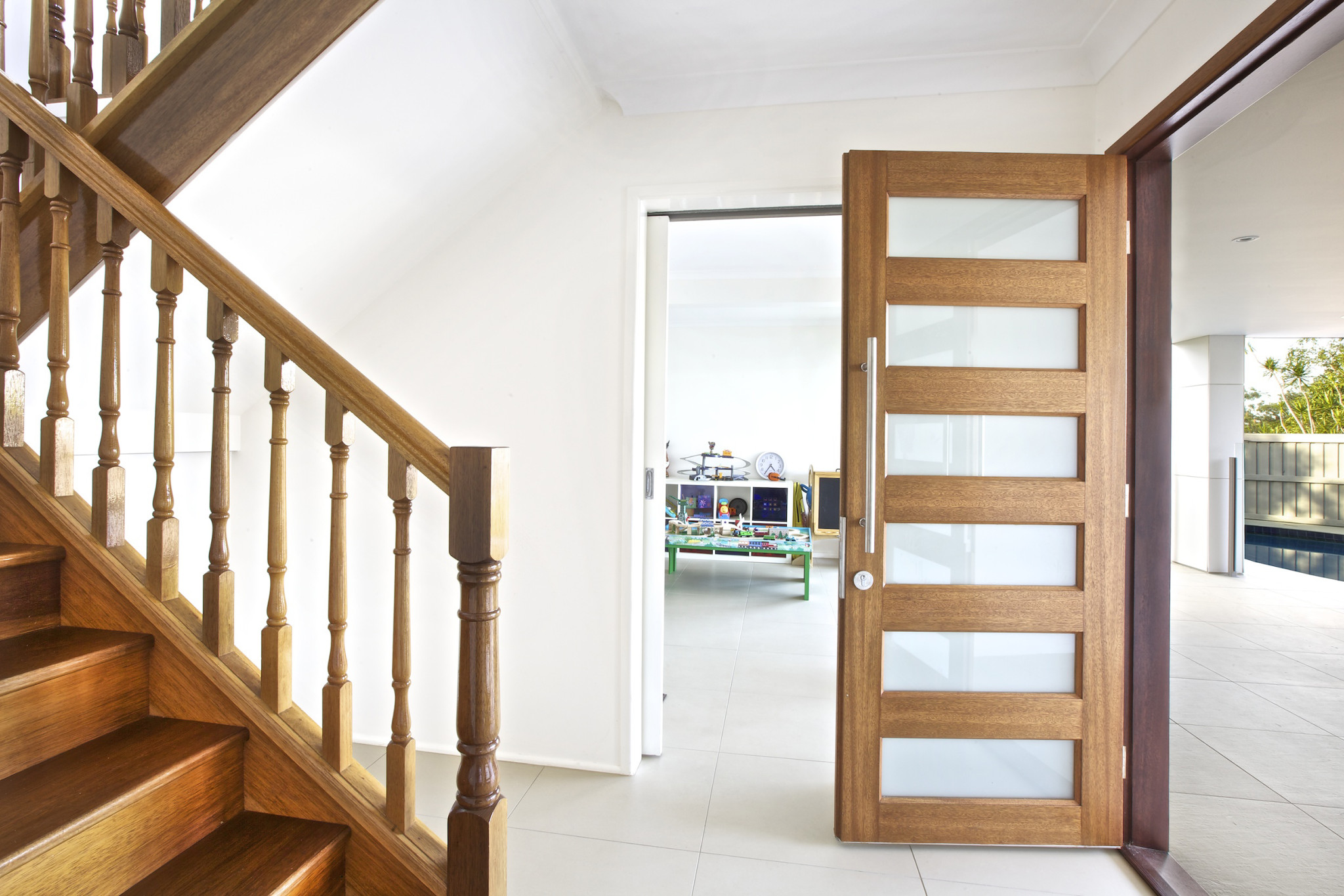 ... Award Winning Architectural Renovation Restoration Grange Timber Stairs Front Door  ...