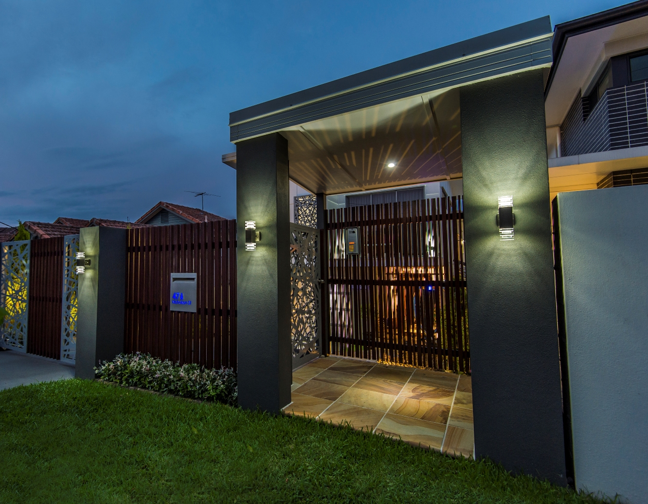 modern lighting design houses. modernarchitecturalnewhomebrisbanegatehousescreeninglighting designermetaltimbersecurityjpg modern lighting design houses