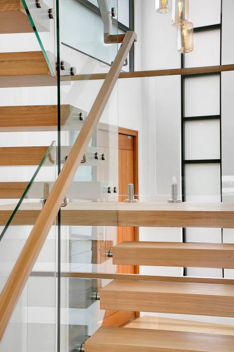 Incroyable Greenslopes Renovation Master Builder  Award Nomination 2018 Framless Glass Balustrade Timber Polished Stairs  Entry Door Aluminium Window